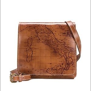 NWT Patricia Nash Granada Map Crossbody Riot Rust